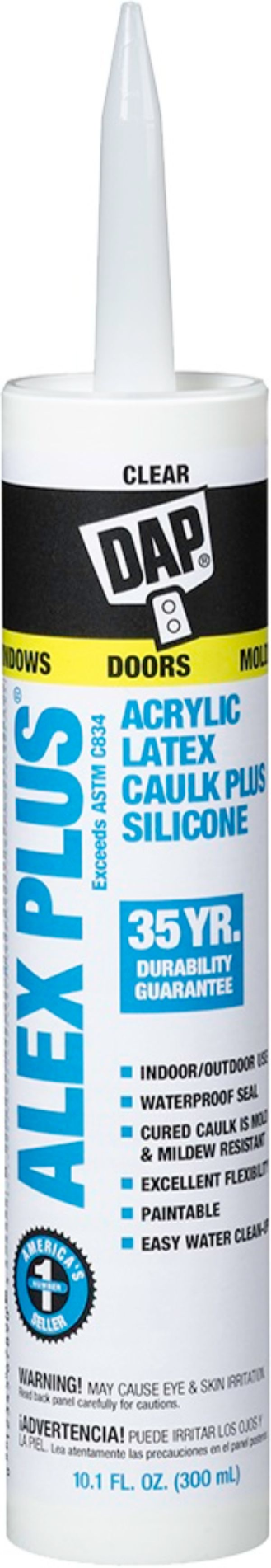 DAP Alex Plus Caulk w/ Silicone - Clear