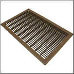 "Floor Register 12"" x 20"" Brown Metal"
