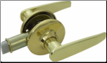 Passage Lever Lock - Brass