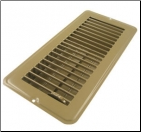 "Floor Register 4"" x 8"" Brown Metal"
