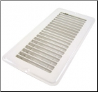 "Floor Register 4"" x 12"" White Metal"
